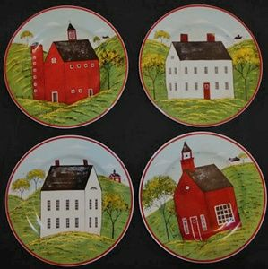 "Brandon House ""Country Life"" Wall Plates"